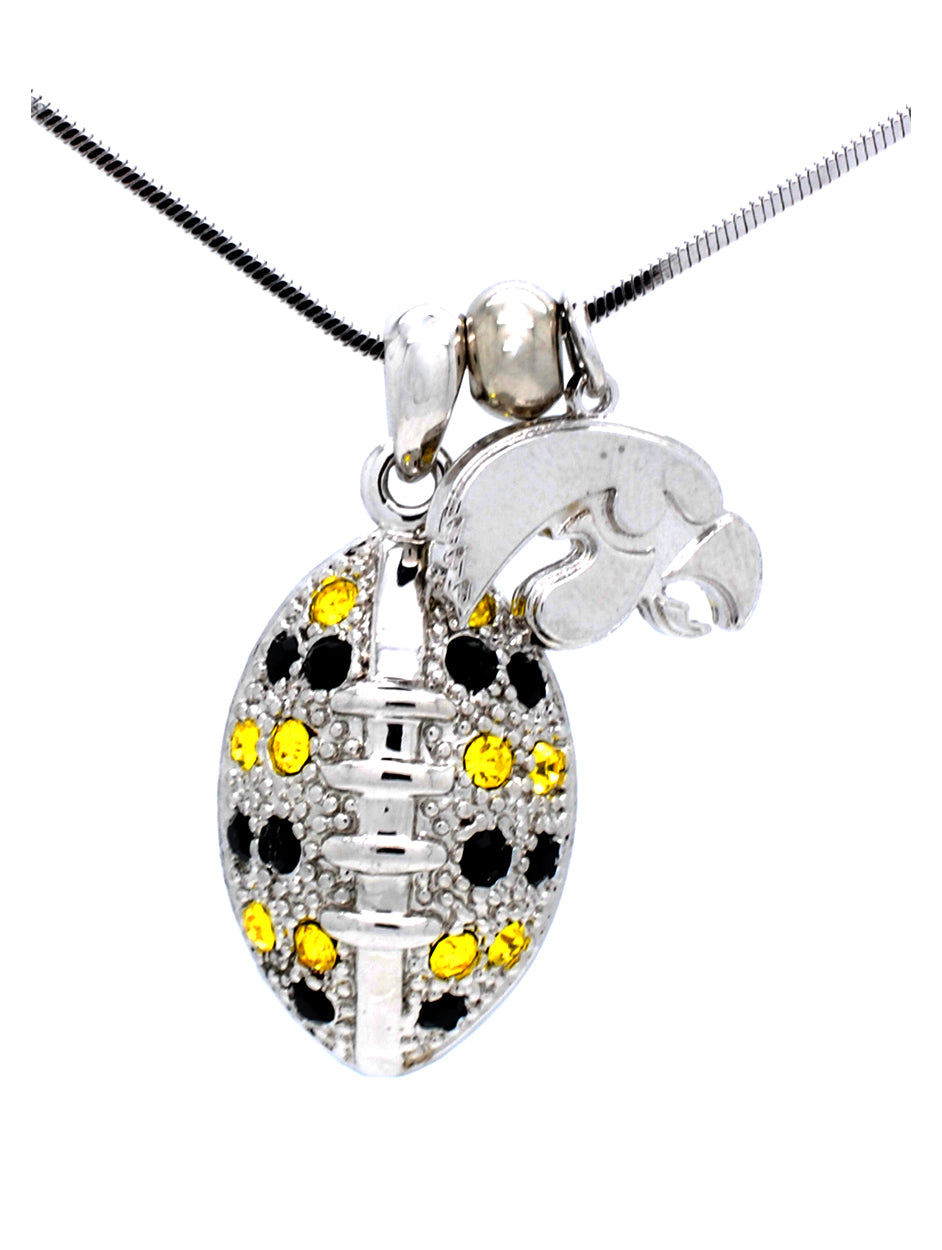 Football Necklace Large - Iowa