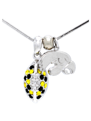 Football Necklace Mini - Iowa