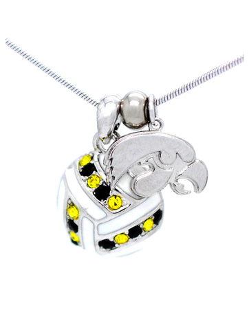 Volleyball Necklace - Iowa