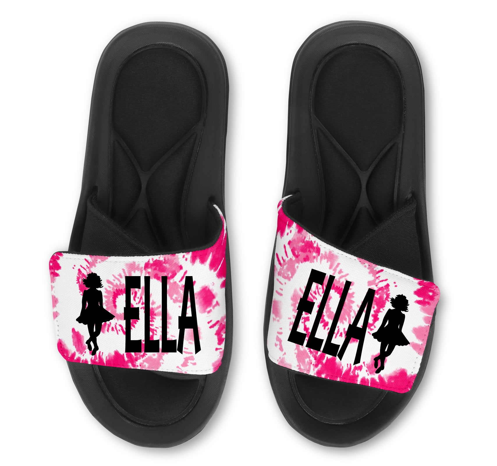 Irish Dance Custom Slides / Sandals -Tie Dye