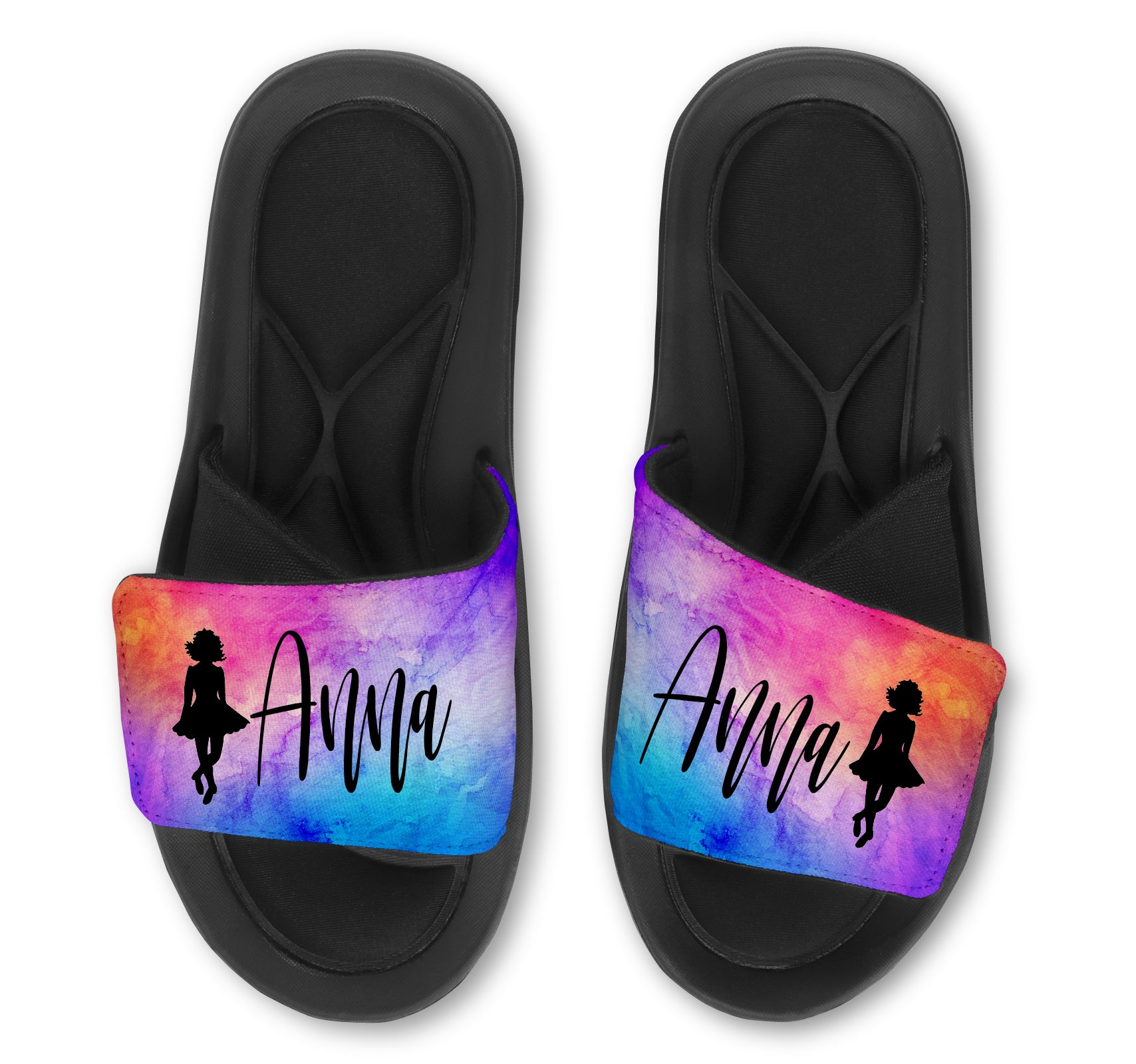 Irish Dance  Custom Slides / Sandals - Watercolor