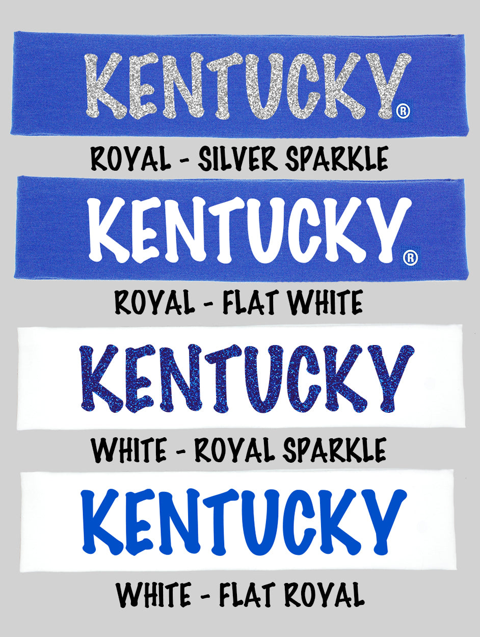 "Kentucky ""Kentucky"" Cotton Headband - Choose Your Style"