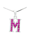 Letter M Dangle Necklace
