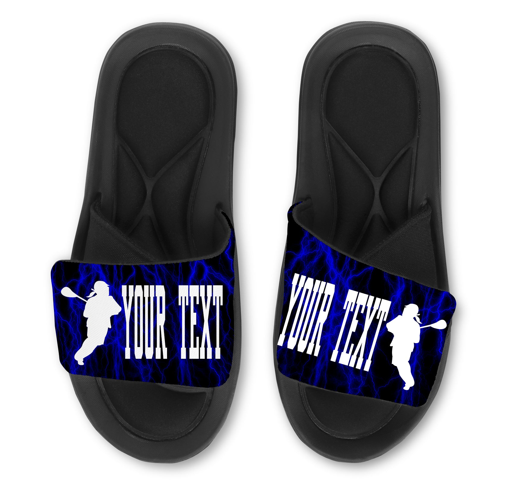 Lacrosse Custom Slides / Sandals -Lightning