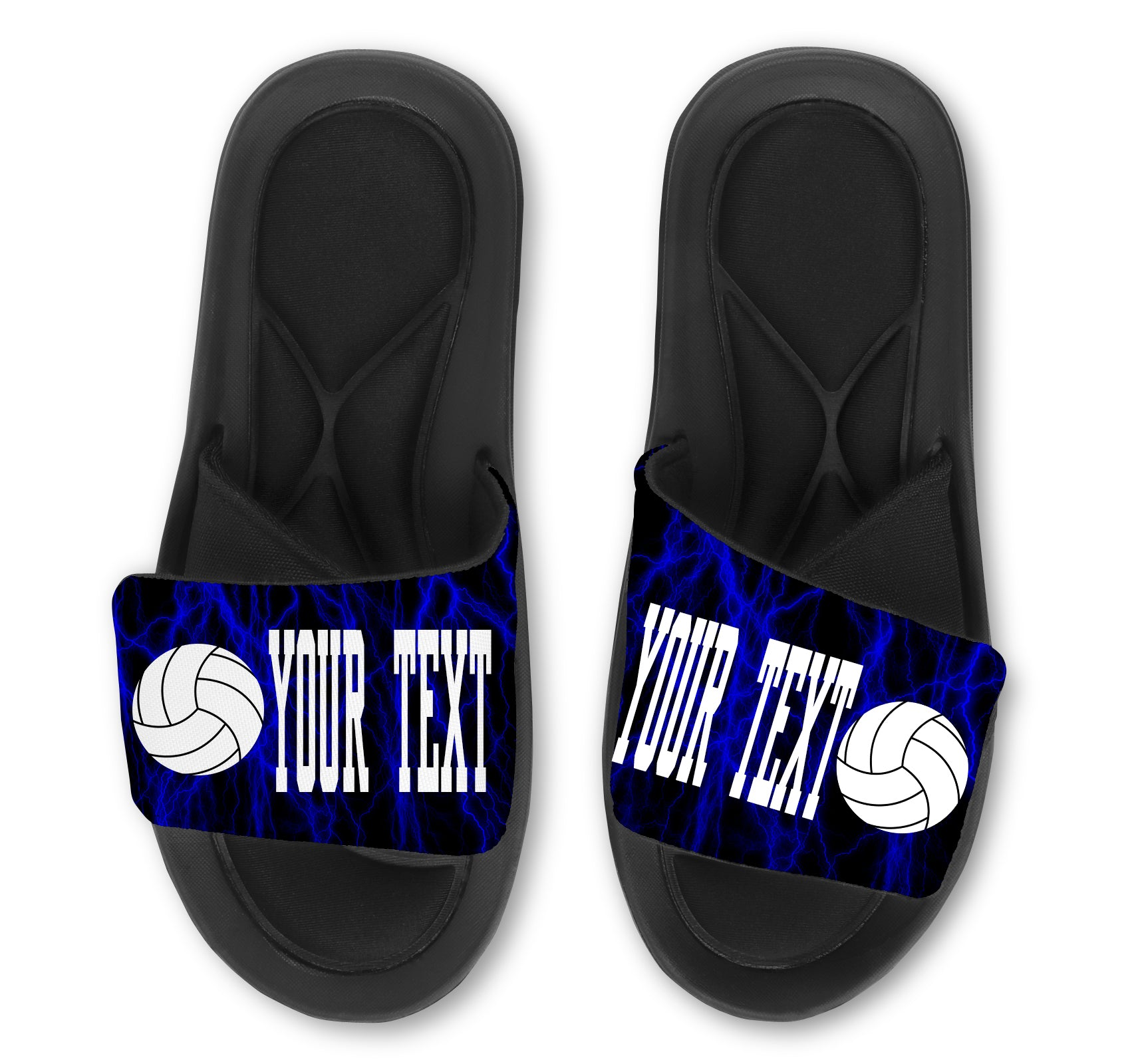 Volleyball Custom Slides / Sandals -Lightning