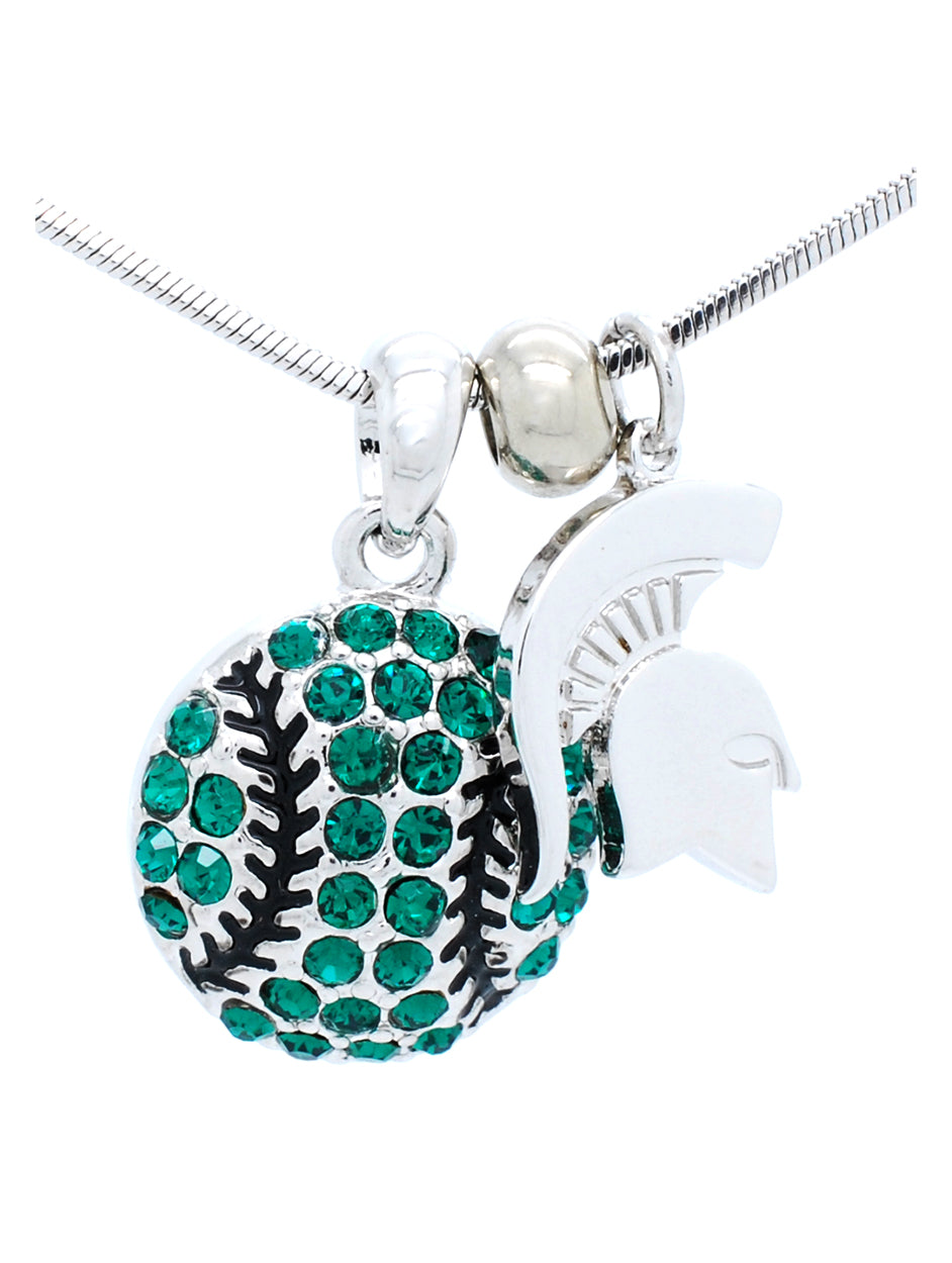 Michigan State Baseball / Softball Necklace