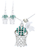 Michigan State Basketball Necklace & Earrings - DANGLE