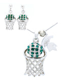 Michigan State Basketball Necklace & Earrings - POST
