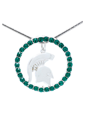 Michigan State Circle of Life Necklace