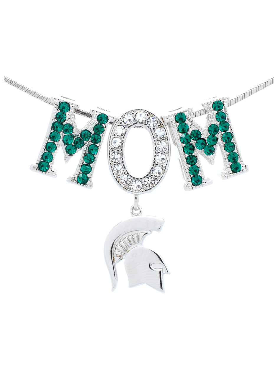 Michigan State Mom Necklace