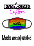 Custom PRIDE Rainbow Face Mask - Add Your Personalization!