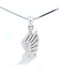 Track Winged Foot Necklace - Medium with Cross