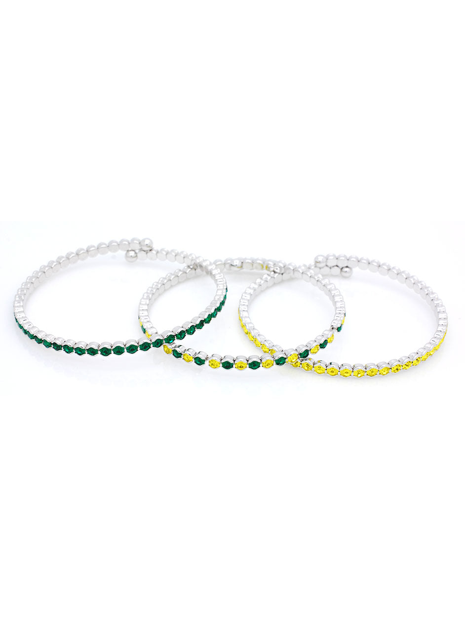 Deluxe Flex Bracelets - Green/Gold