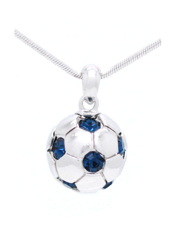Soccer Ball Necklace - Navy