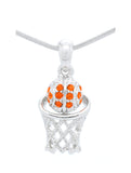 Basketball Hoop Necklace Mini - Orange