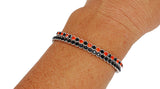 Deluxe Flex Bracelet - 2 Pack - Orange - Orange/Black