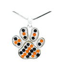 Paw Necklace Large - Orange/Black