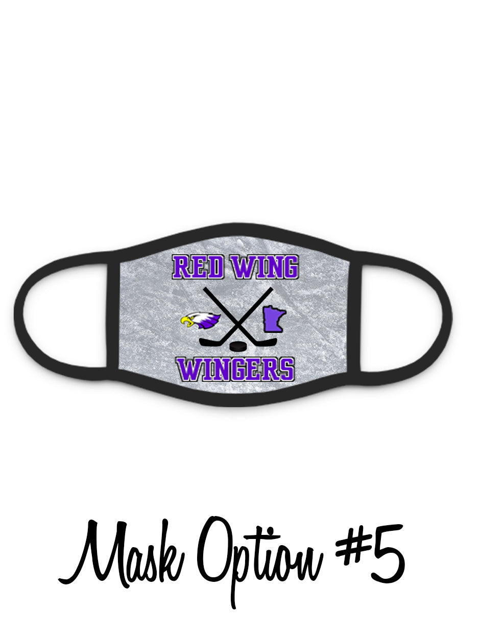 Red Wing Wingers Face Mask - #5 - Hockey Face Mask