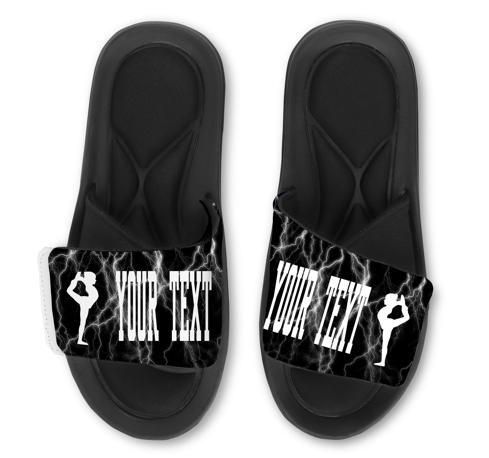 Scorpion Custom Slides / Sandals -Lightning
