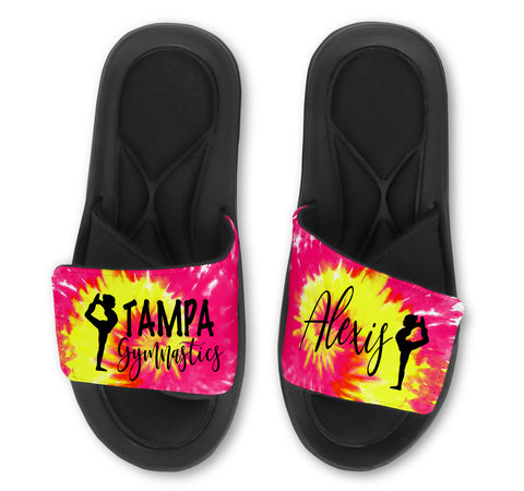 Scorpion Custom Slides / Sandals -Tie Dye