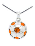 Soccer Ball Necklace - Orange