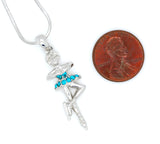 Figure Skater Spinning Necklace