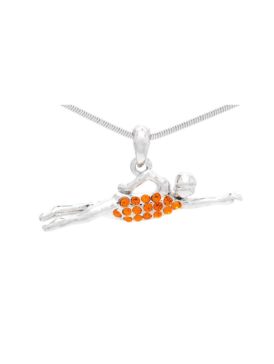 Swimmer Necklace - Orange