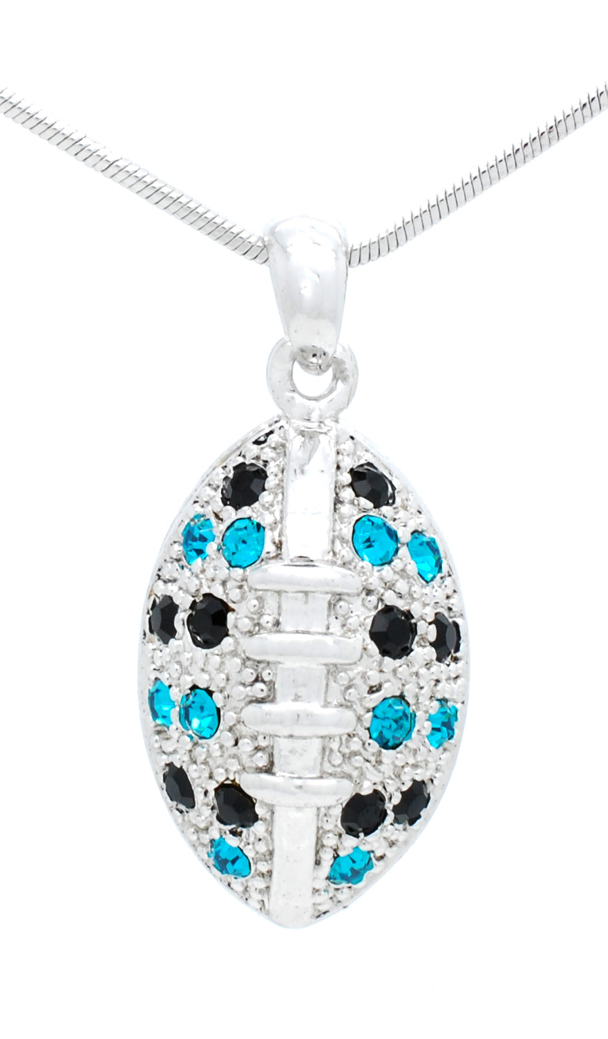 "Football Necklace - Large - Two Tone - 24"" Chain"