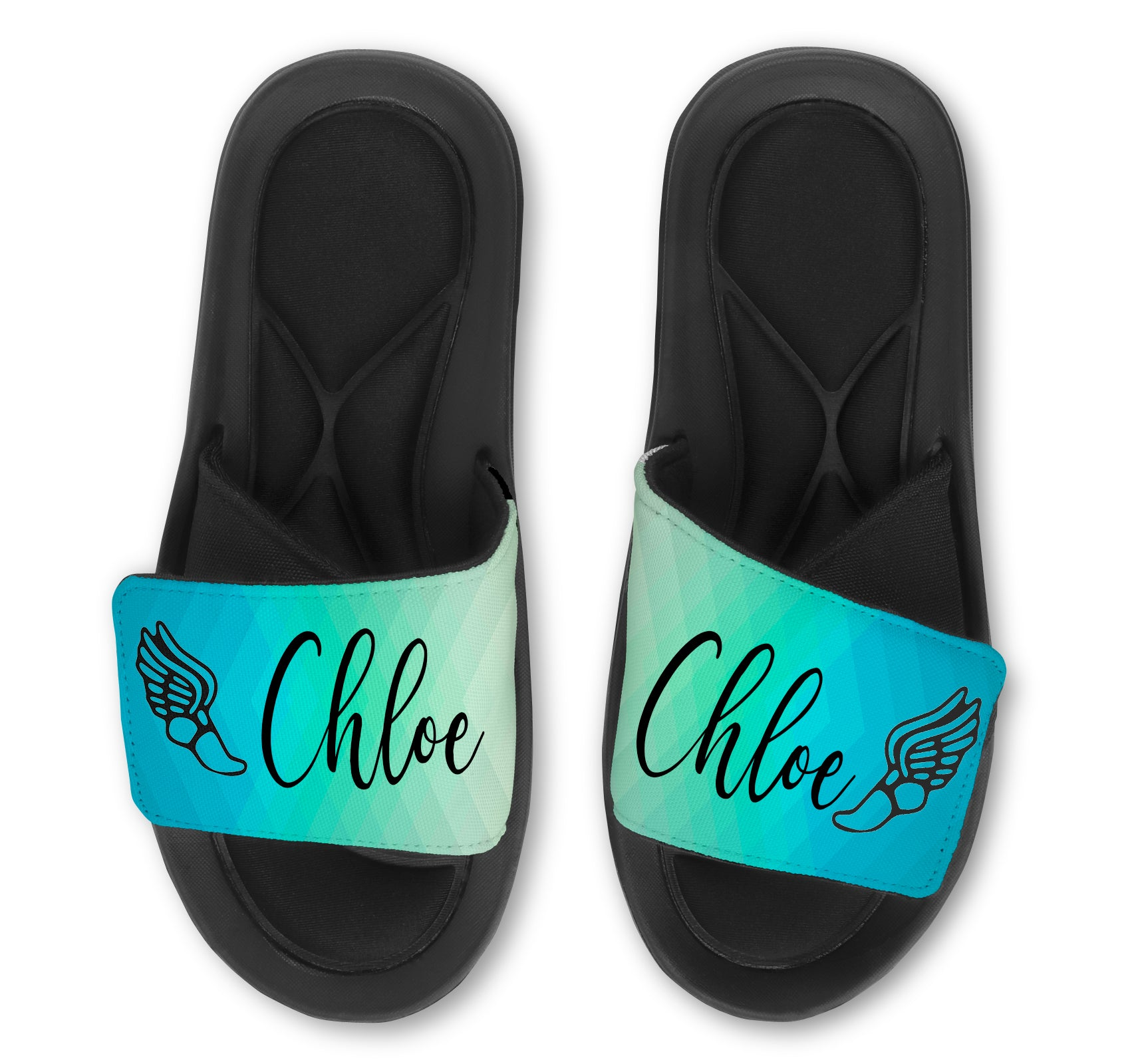 TRACK Abstract Custom Slides / Sandals - Choose your Background!