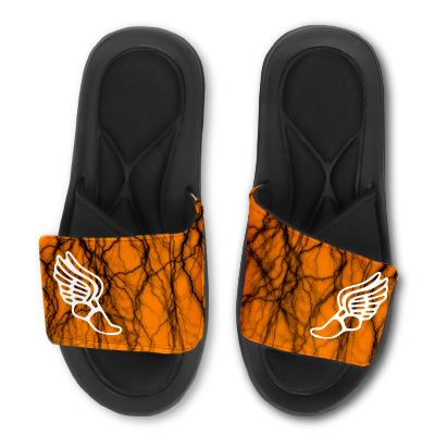 Track Custom Slides / Sandals -Lightning