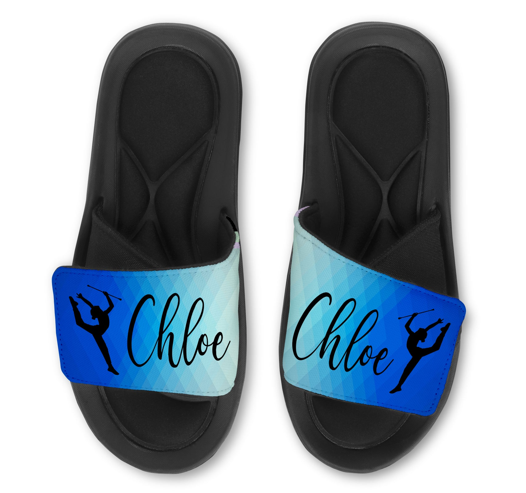 TWIRL Abstract Custom Slides / Sandals - Choose your Background!