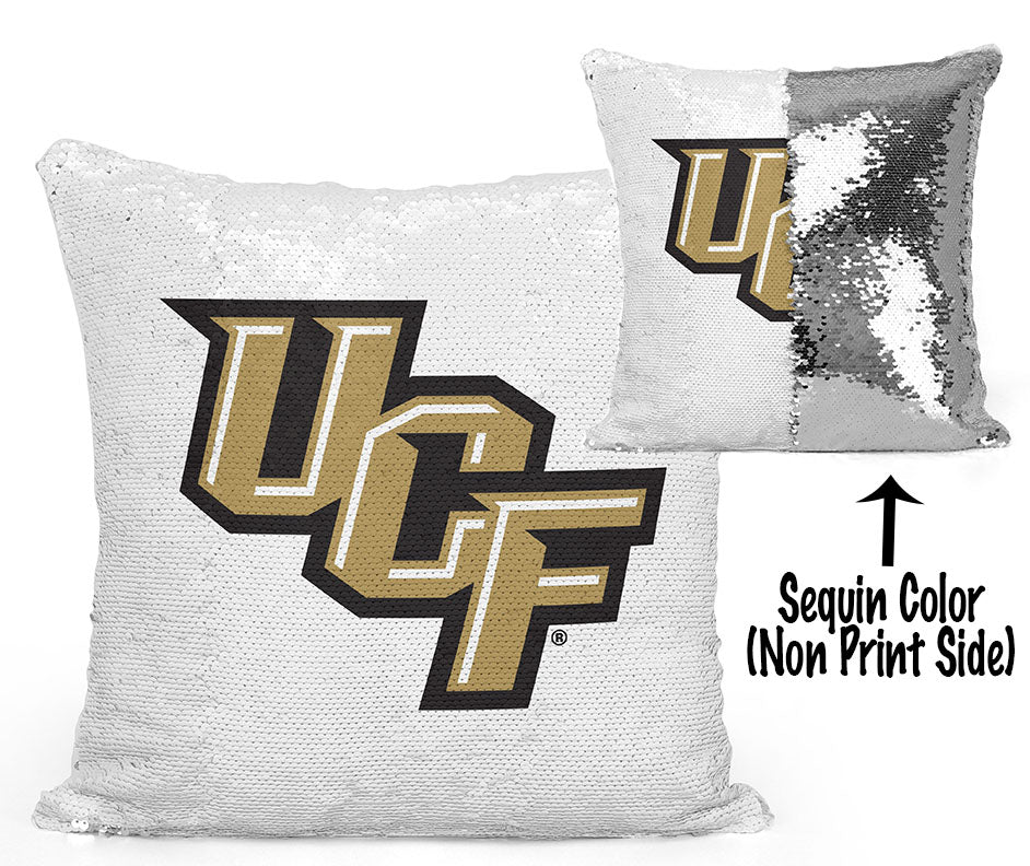 UCF Sequin Flip Pillow - University of Central Florida - Logos Design