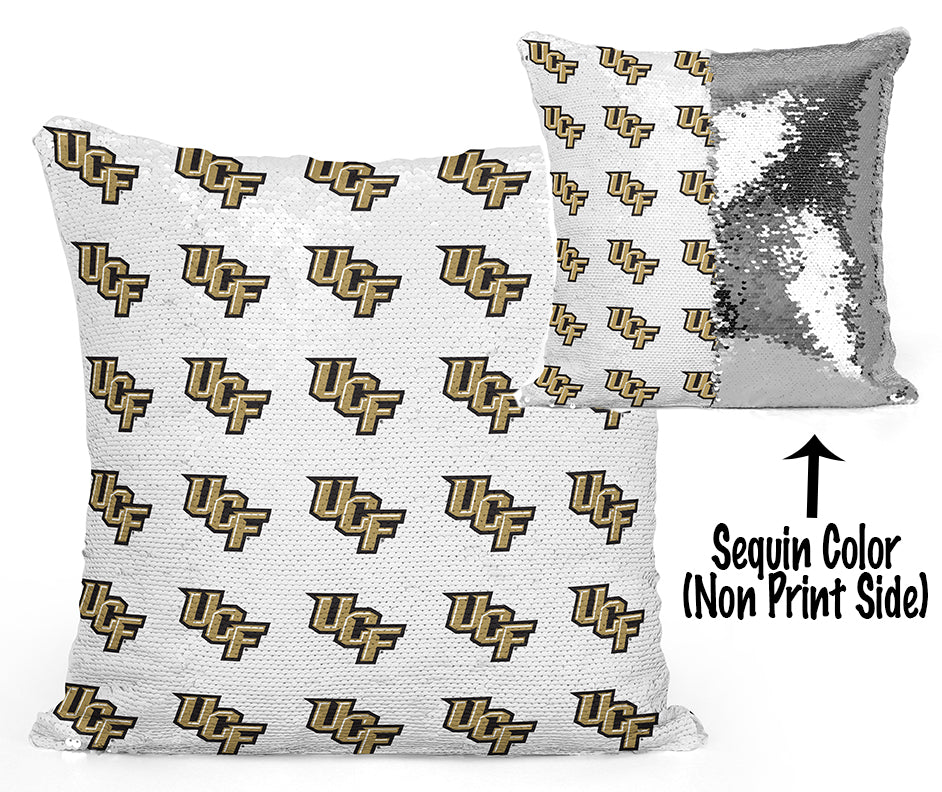 UCF Sequin Flip Pillow - University of Central Florida - Mini Logo Design