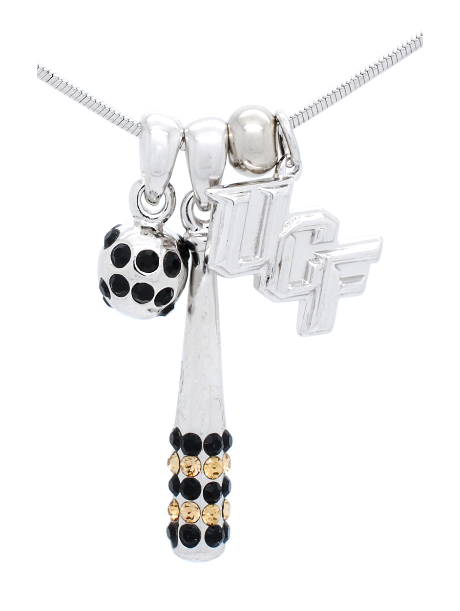 UCF Baseball or Softball Bat & Ball Necklace