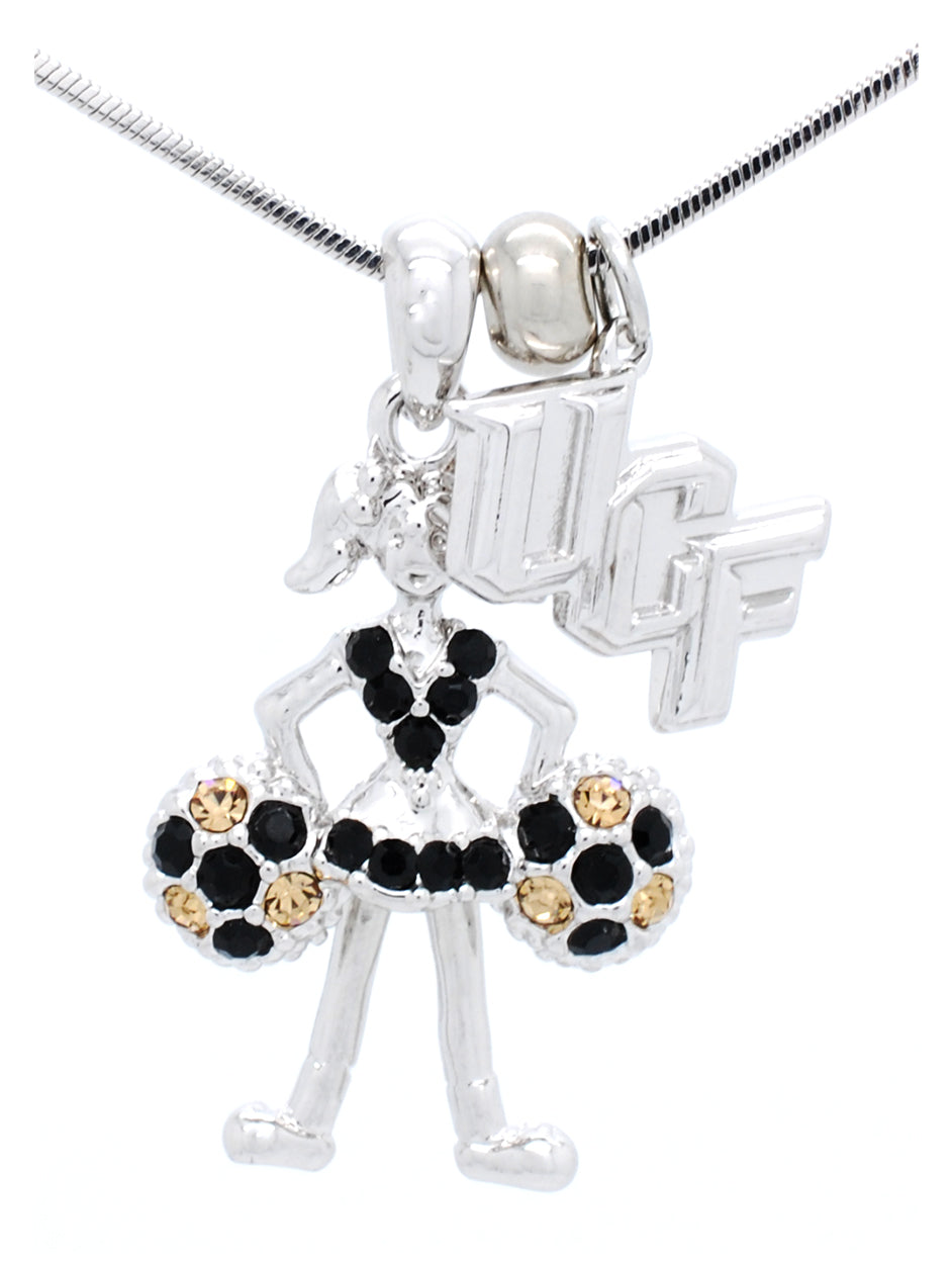 UCF Cheer Poms Down Necklace