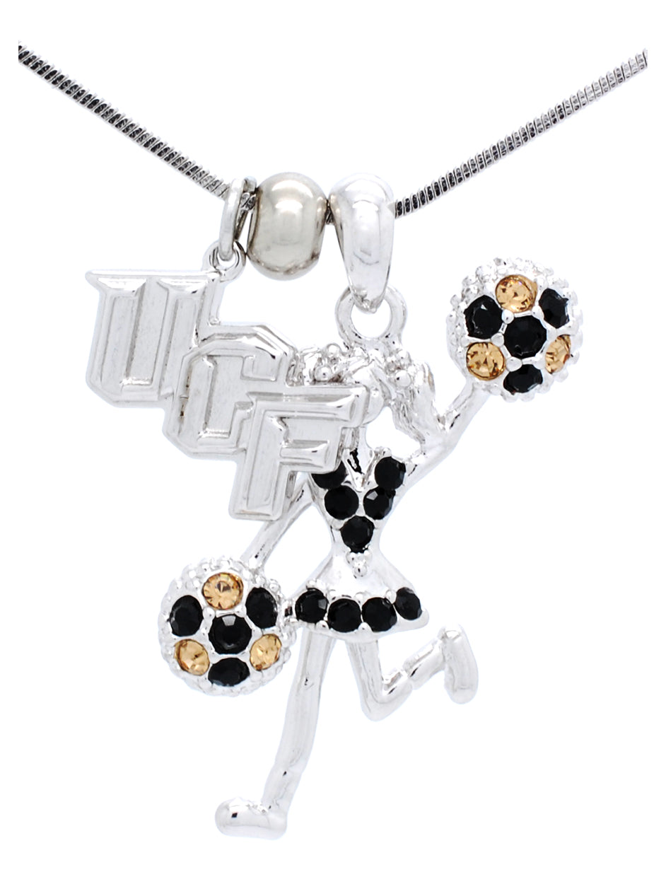UCF Cheer Poms Half Necklace