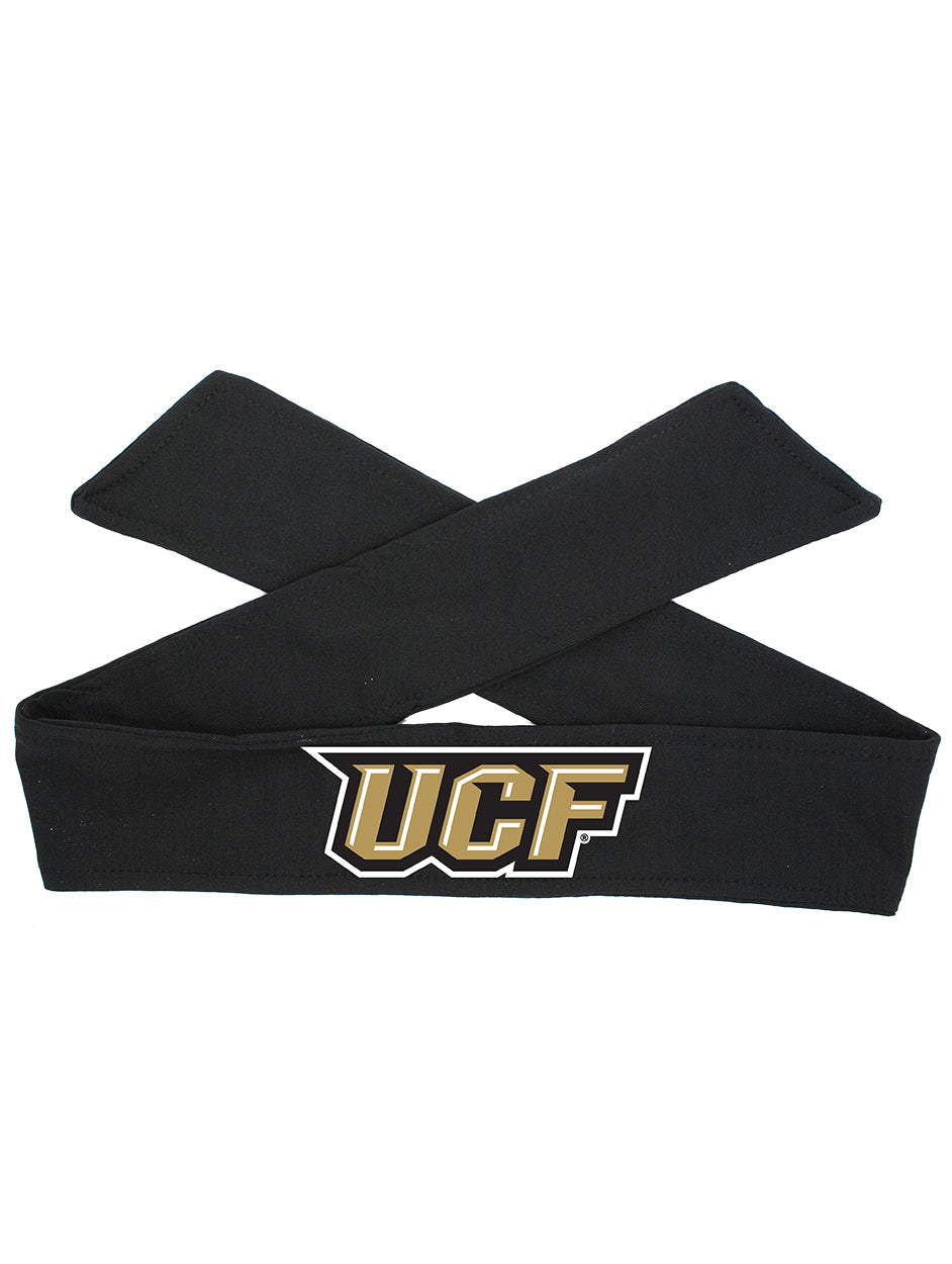 UCF Tie Headband - Black/Full Color Logo