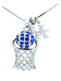 Kentucky Large Basketball Necklace & Earring Set - DANGLE