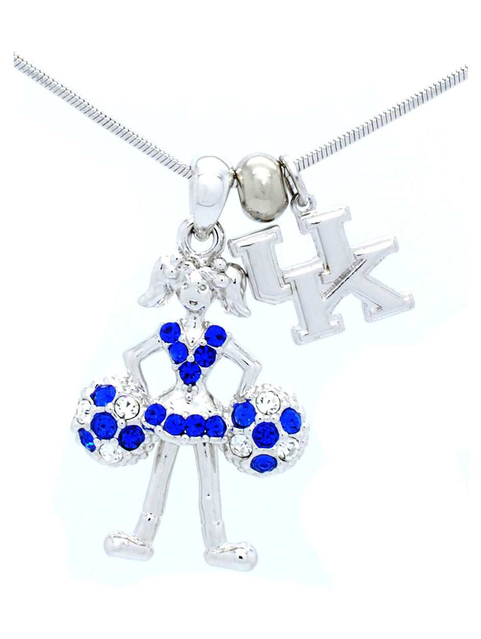Kentucky Cheer Necklace - Poms Down