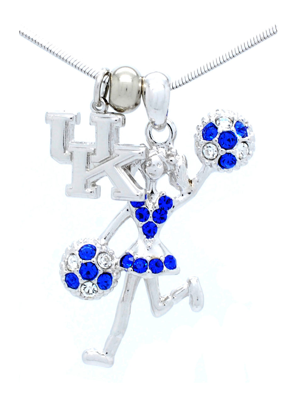 Kentucky Cheer Necklace - Poms Half
