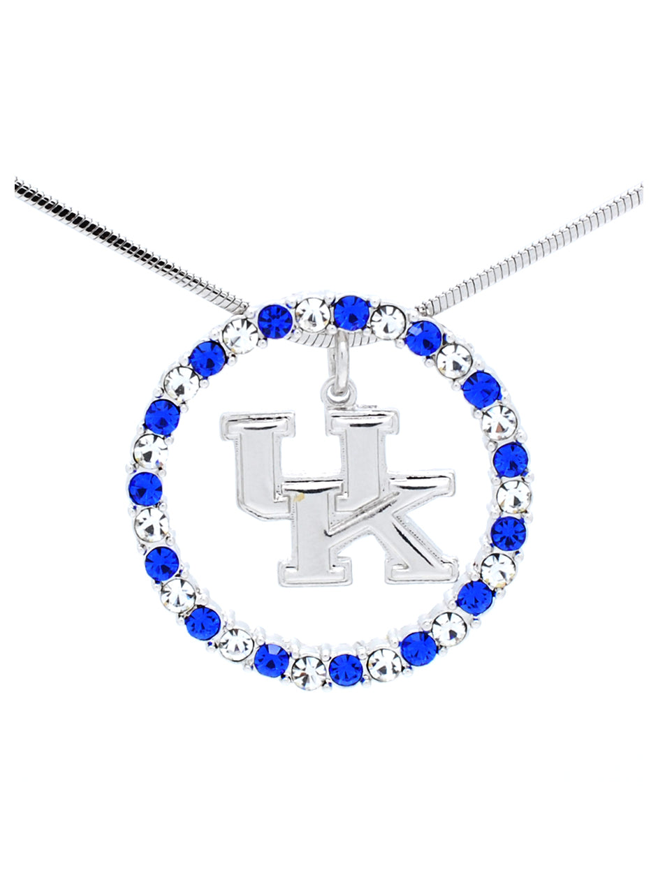 Kentucky Crystal Circle Necklace