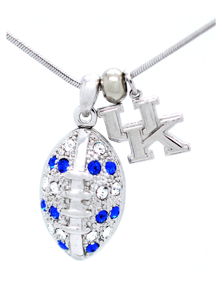 Kentucky Large Football Necklace
