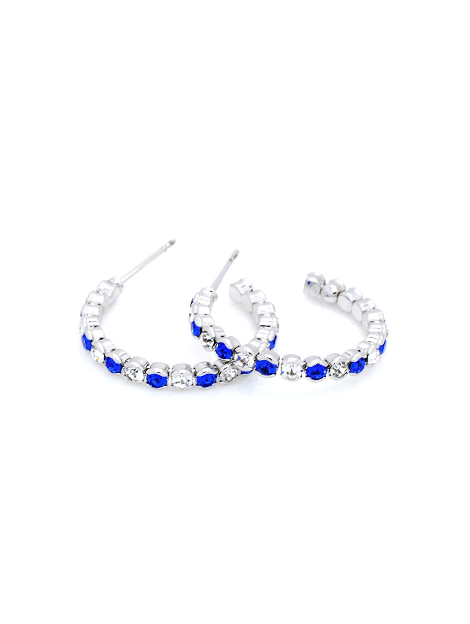 Hoop Earrings - Royal Blue