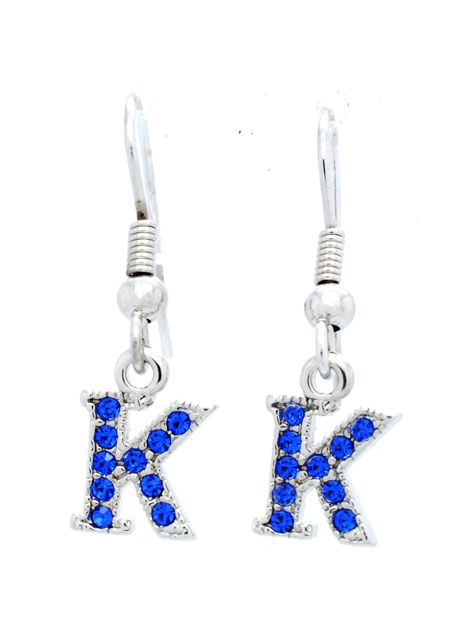 K Dangle Earrings - Royal