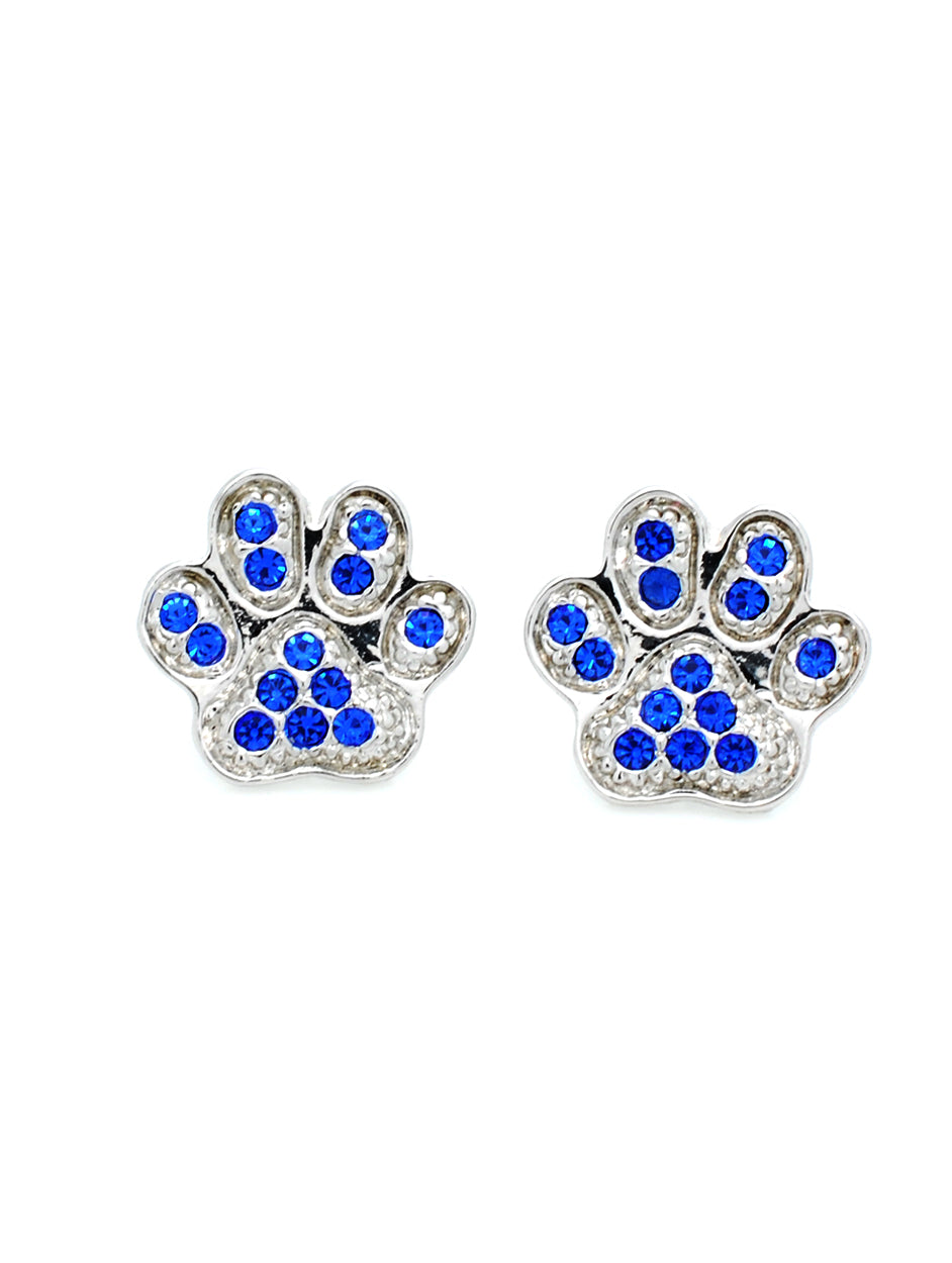 Paw Post Earrings - Royal