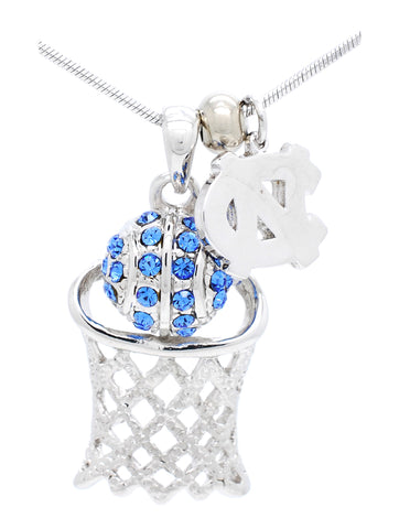 North Carolina Large Basketball Necklace