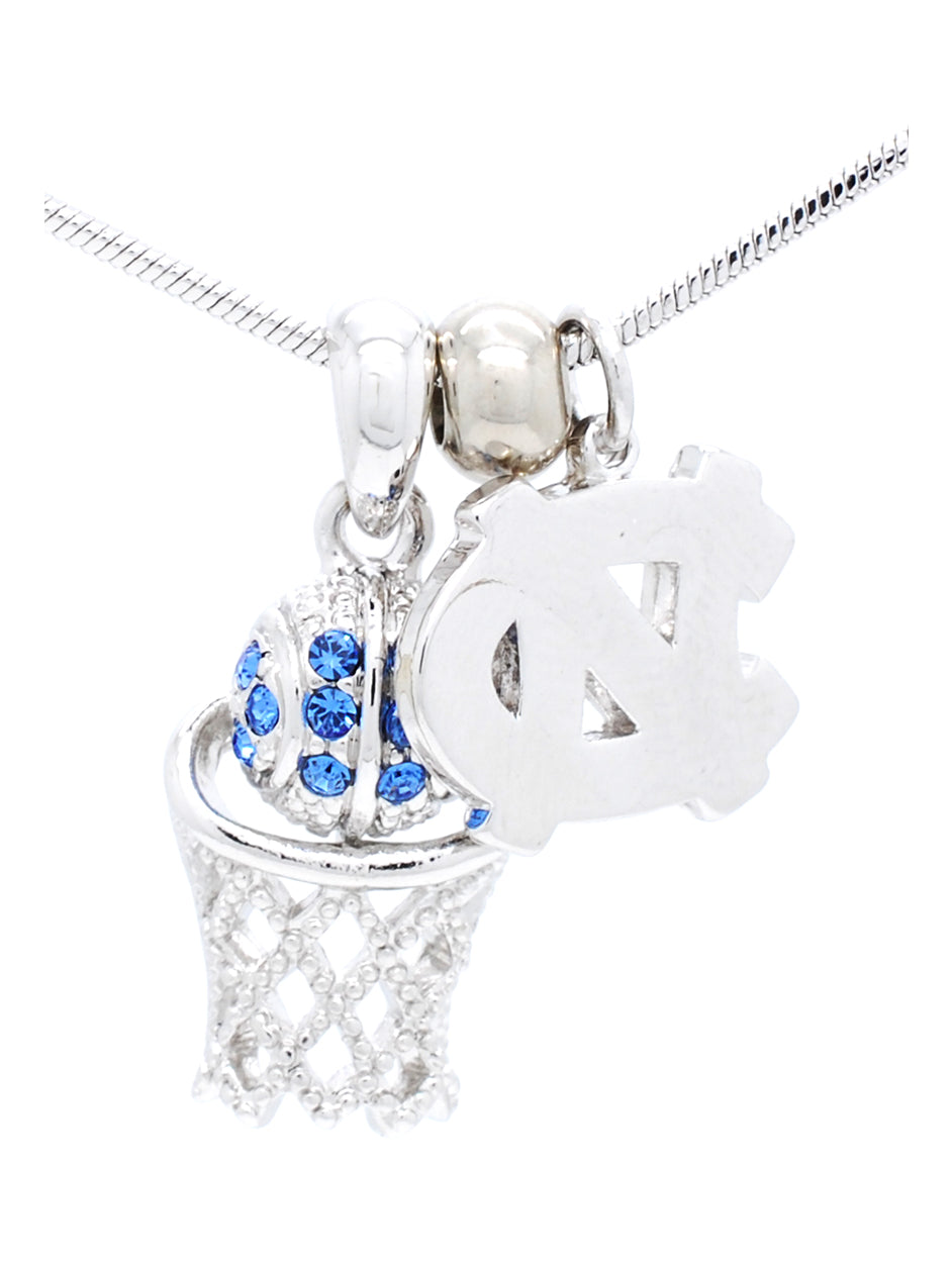 North Carolina Mini Basketball Necklace