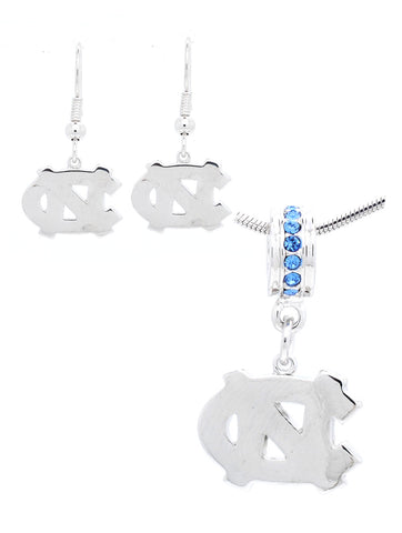 North Carolina Deluxe Pendant Necklace & Earring Set