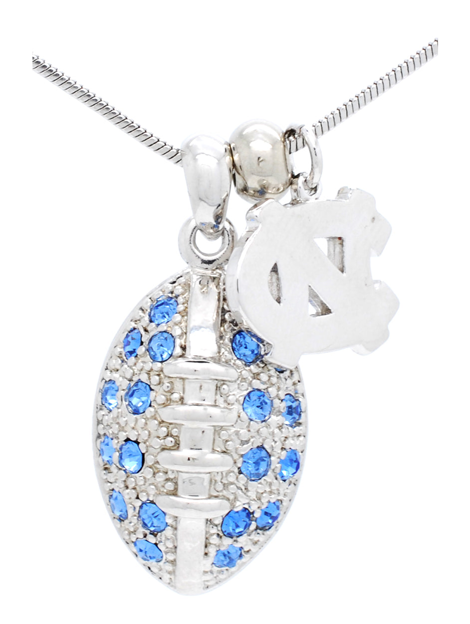 North Carolina Large Football Necklace