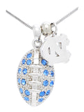 North Carolina Large Football Necklace & Earring Set
